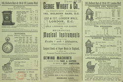 Advert for George Whight & Co